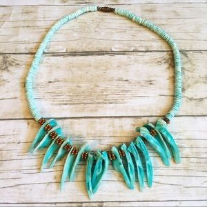 Jewelry - Beautiful Handmade Turquoise/Teal Color Necklace